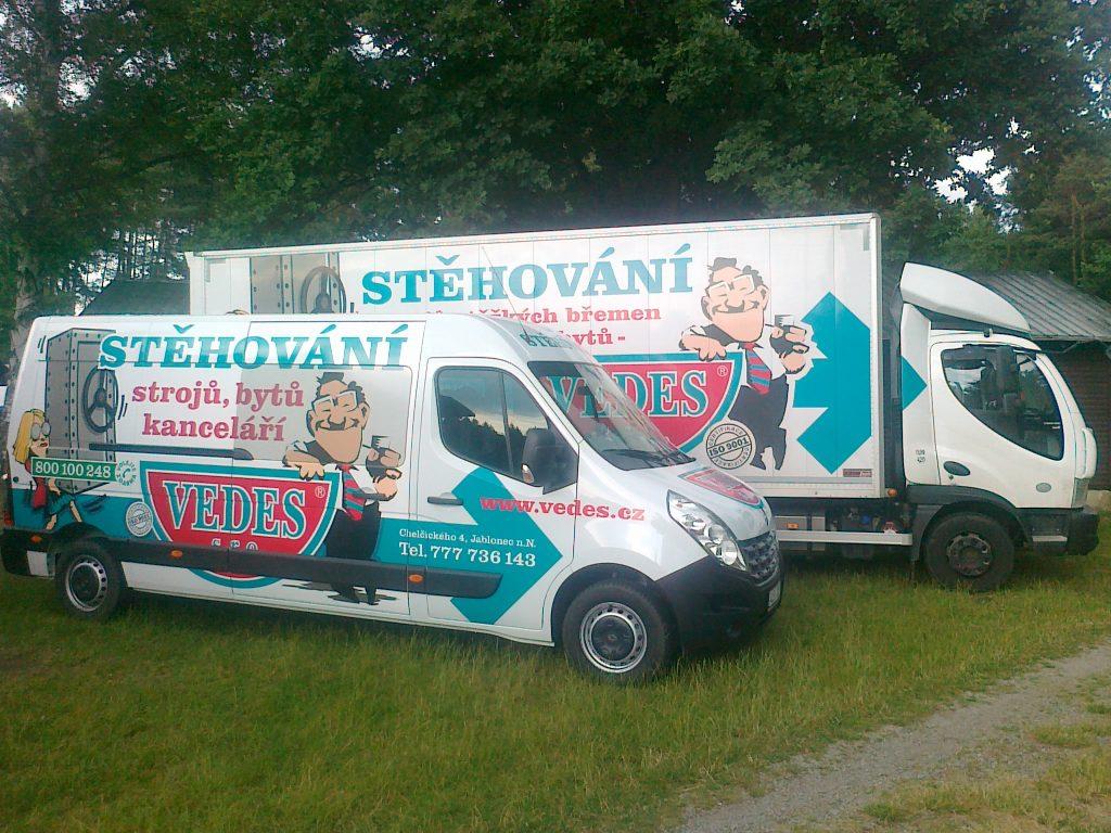 Stěhování firem Vedes, s.r.o. Jablonec nad Nisou